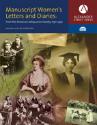 Manuscript Women's Letters and Diaries updated - Alexander Street Press